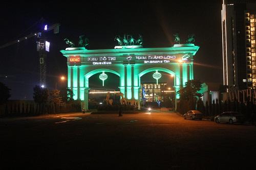Công trình LED trang trí nghệ thuật tại cổng chính khu đô thị Ciputra