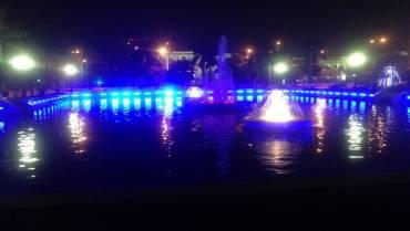 Công trình trang trí đèn LED trung tâm thị xã Từ Sơn